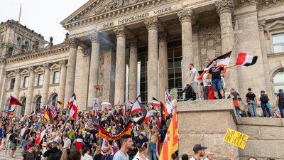 """""""Reichstags-Sturm"""": Ermittlungen wegen Landfriedensbruchs – Anwalt spekuliert über Zersetzungs-Taktik"""