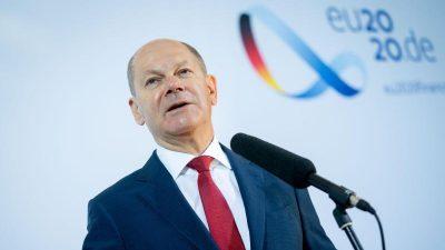 Scholz gibt Transaktions-Steuer auf EU-Finanzgeschäfte nicht auf