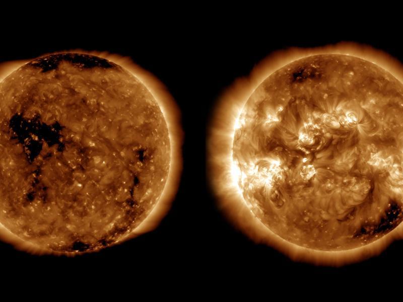 Sonne in neuen Zyklus ihrer Aktivität eingetreten