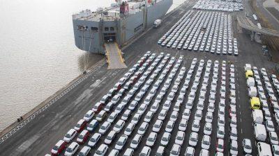Export von deutschen Elektro-Autos lahmt