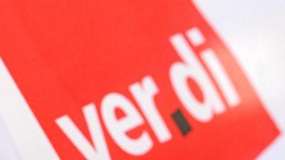 Verdi setzt Warnstreiks in öffentlichem Dienst fort