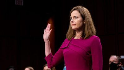 """Trumps Kandidatin für Obersten Gerichtshof erklärt vor Senat: """"Werde Gesetze so wie sie geschrieben sind auslegen"""""""