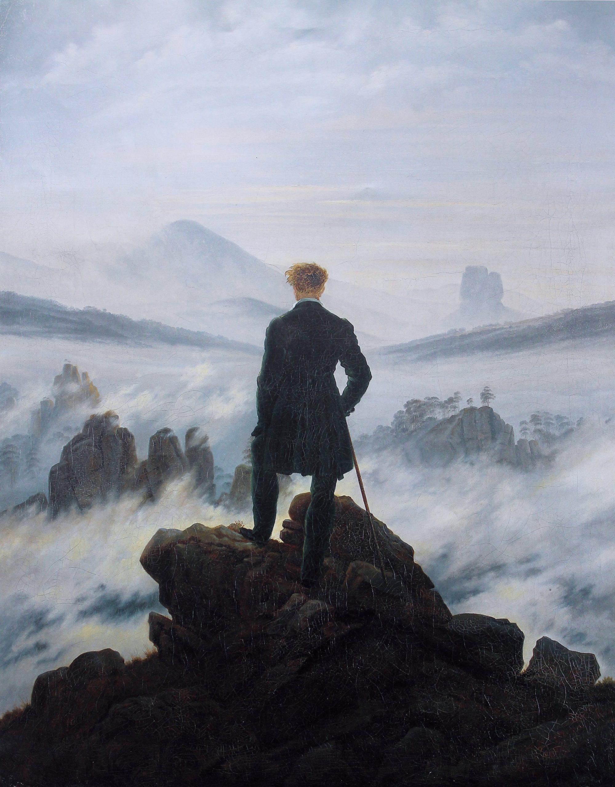"""Wanderer über dem Nebelmeer"", Caspar David Friedrich"