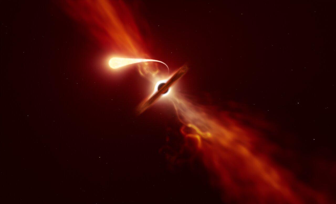 """Tod durch """"Spaghettisierung"""": ESA beobachtet letzte Momente eines sterbenden Sterns"""