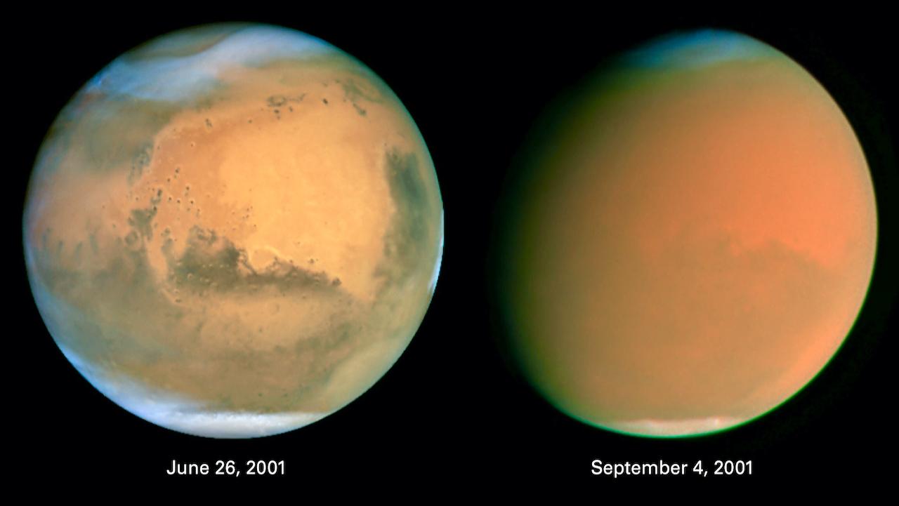 Erde zwischen Sonne und Mars: Roter Planet gut sichtbar
