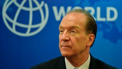 Weltbank-Chef warnt vor neuer Schulden- und Finanzkrise – Keine Hilfe von Kreditgebern aus China