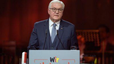 """""""Groß nur in der Enttäuschung"""": Steinmeier hielt """"missglückte Rede"""" zum 30. Jahrestag der Einheit"""