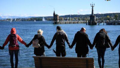 LIVE vom 3. Oktober: Friedenskette und Kundgebung am Bodensee