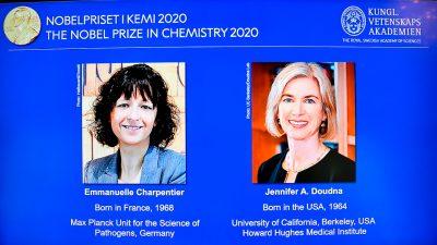 Chemie-Nobelpreis geht an Forscherinnen aus Frankreich und den USA