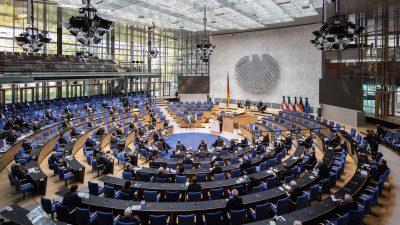 Haushaltsdebatte: Ausgaben von 498,6 Milliarden Euro, Neuverschuldung von 180 Milliarden Euro