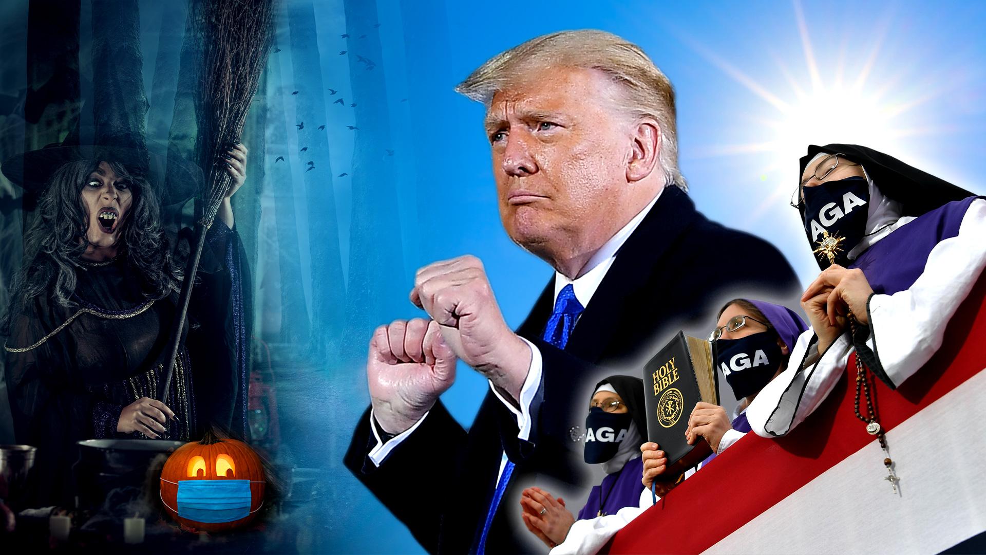 "Magischer Wahlkampf USA: Hexenzauber gegen Trump soll Biden auf den ""Thron"" verhelfen – Nonnen halten mit Gebeten dagegen"