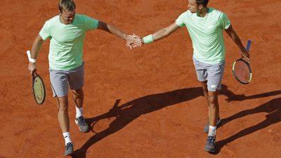 Fench Open: Titelverteidiger Krawietz/Mies im Halbfinale