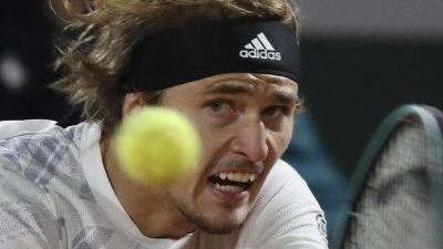 Alexander Zverev bei den French Open mühelos im Achtelfinale