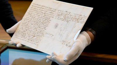 Drei Briefe der Familie Mozart wandern nach Österreich