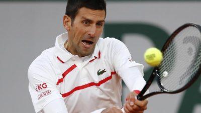 Djokovic zum zehnten Mal im Halbfinale der French Open