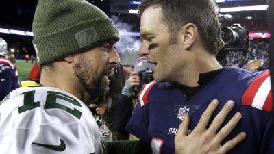Duell zweier Quarterback-Legenden: Brady trifft auf Rodgers