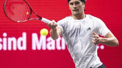Zverev zieht ins Endspiel des Tennis-Turniers von Köln ein