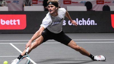 Tennis-Ass Zverev kämpft sich in Köln ins Halbfinale