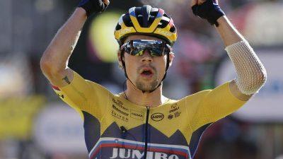 Roglic gewinnt 8. Vuelta-Etappe und nähert sich Carapaz