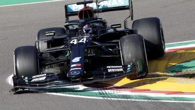 Hamilton im einzigen Imola-Training mit Bestzeit