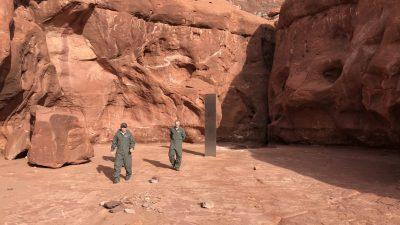 Mysteriöse Metallsäule im US-Bundesstaat Utah offenbar wieder verschwunden