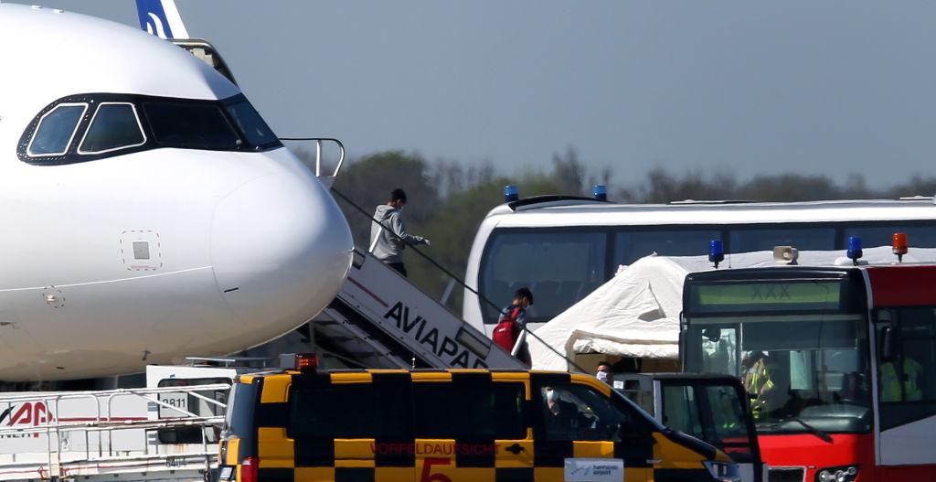 120 Migranten und Flüchtlinge aus Griechenland landen in Hannover