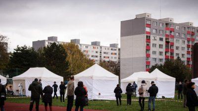 Immer mehr Länder Europas verhängen neuen Corona-Lockdown – Slowakei testet alle 4,5 Millionen Einwohner