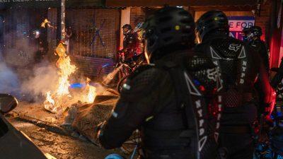 Demonstrationen in den USA: Brände, Zusammenstöße mit Polizei in New York – Nationalgarde in Portland