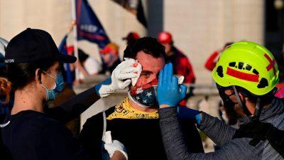 Million-MAGA-Marsch: Trump-Unterstützer angegriffen und in den Kopf geschnitten