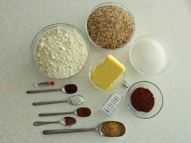 Zutaten für Linzer Plätzchen