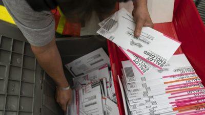 Kalifornien verhaftet zwei Männer wegen Wahlbetrugs