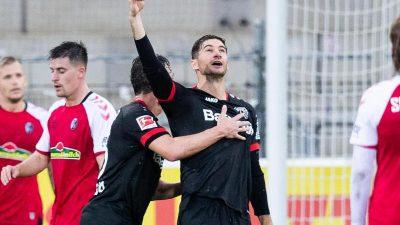 Alario wieder ein Torgarant – Leverkusen siegt in Freiburg