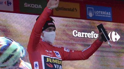 Roglic unmittelbar vor Vuelta-Gesamtsieg