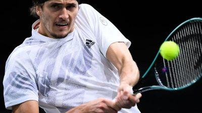 Alexander Zverev beim Turnier in Paris ohne Mühe weiter