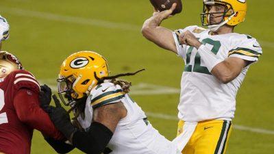 NFL: Green Bay Packers schlagen ersatzgeschwächte 49ers
