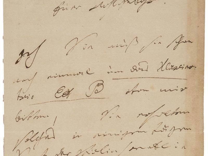 USA: Beethoven-Brief für 275.000 Dollar versteigert