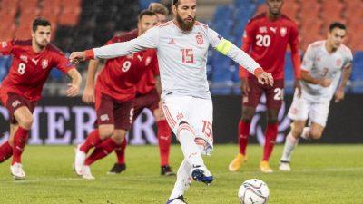 Spanien nur remis: Rekordmann Ramos der tragische Held