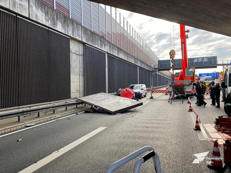 """Betonplatten-Unfall auf A3: Behörde spricht von """"Absicht"""""""