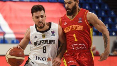 Knappe Niederlage für deutsche Basketballer gegen Montenegro