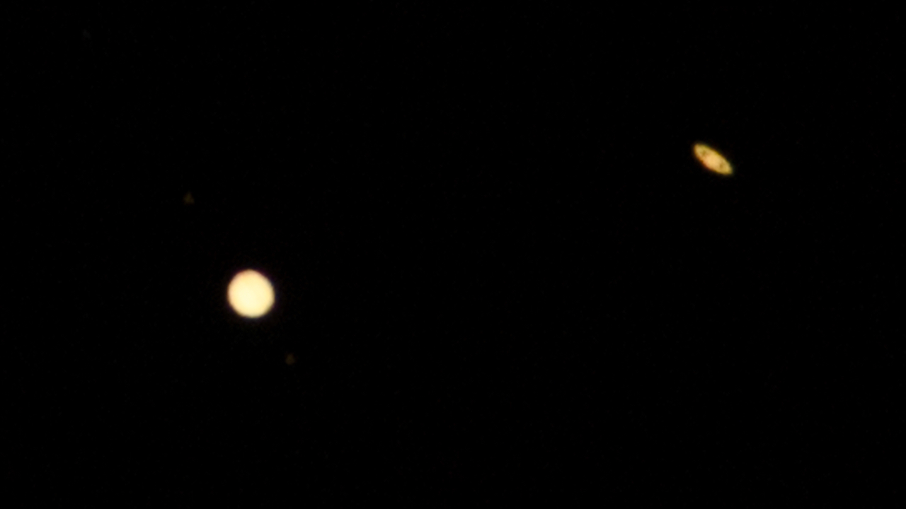 Jupiter und Saturn so nah beieinander wie selten