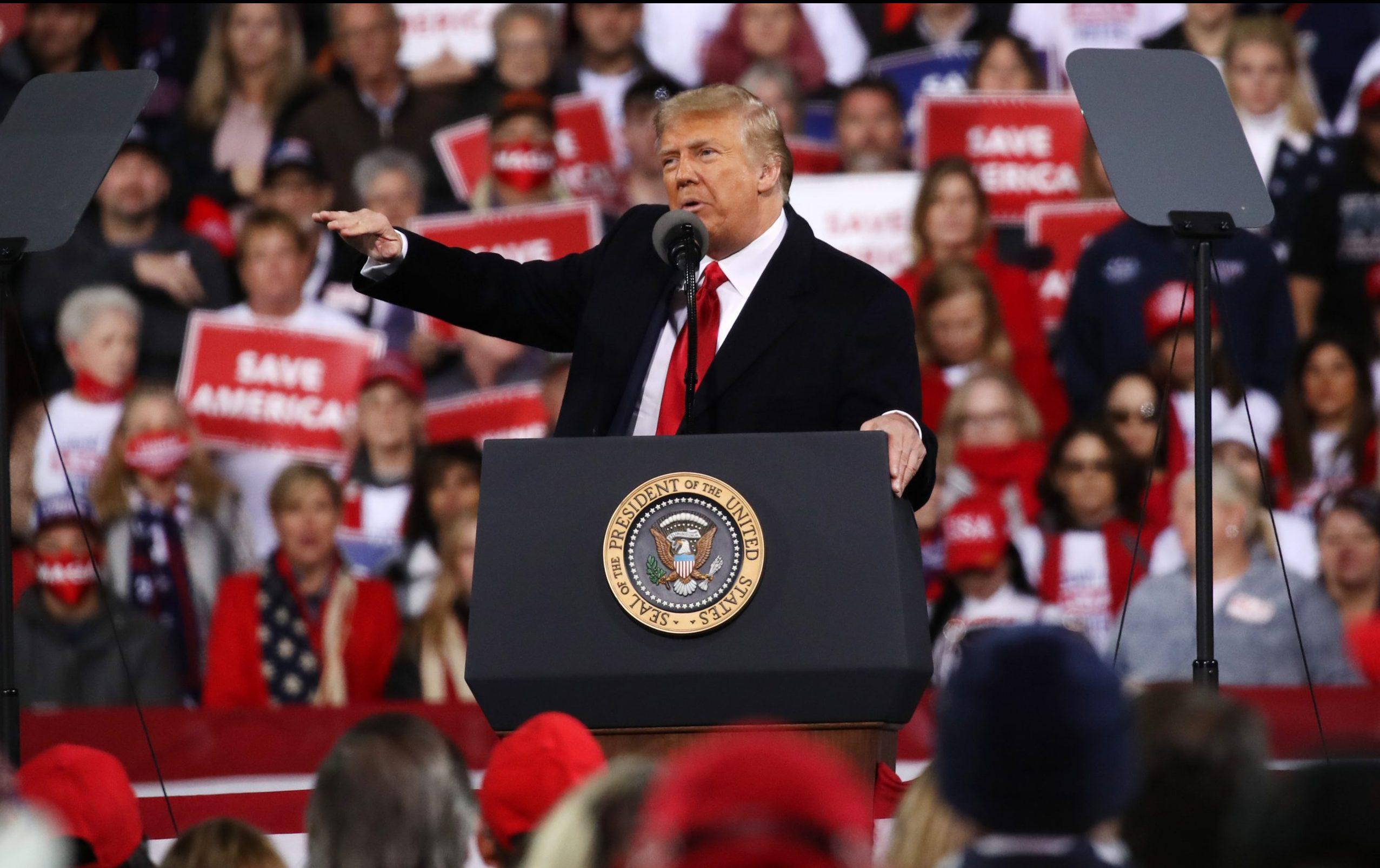 """Trump bei Kundgebung in Georgia: """"Es ist niemals akzeptabel, wenn sie stehlen, manipulieren, rauben"""""""