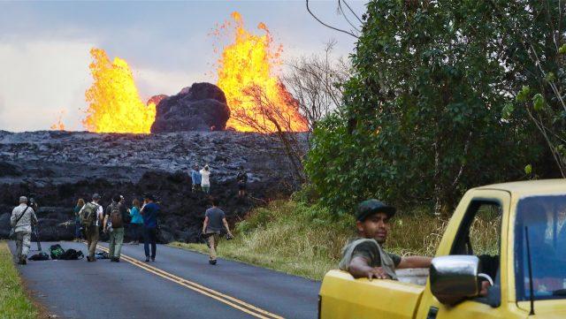 Vulkan Kilauea auf Hawaii ausgebrochen