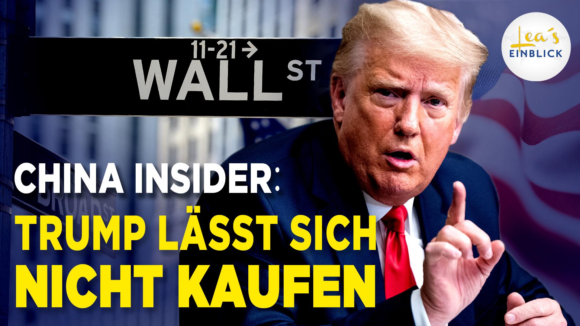 Wie China die USA über die Wall Street beeinflusst – Trump streut Sand ins Getriebe
