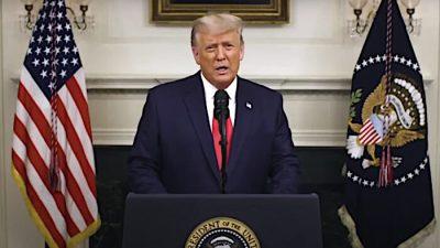 """Trump: """"Dies ist vielleicht die wichtigste Rede, die ich je gehalten habe"""" (Deutsch)"""