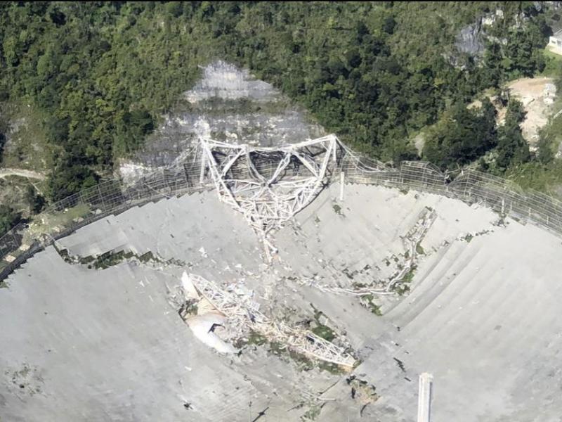 Berühmtes Radioteleskop Arecibo in Puerto Rico eingestürzt