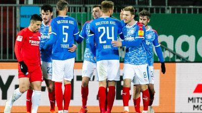 Kiel übernimmt vorerst Platz eins – Später Fortuna-Sieg