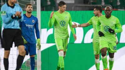 Dank Weghorst: VfL Wolfsburg bezwingt auch Frankfurt