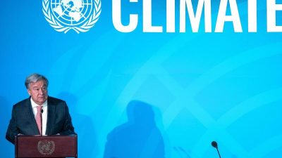 """""""Bis Klimaneutralität erreicht ist"""": Guterres fordert Ausrufen des Klima-Notstands"""