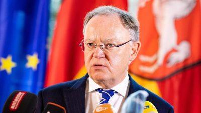 """Niedersachsens Ministerpräsident kritisiert Rufe nach """"kurzen und harten"""" Lockdown"""