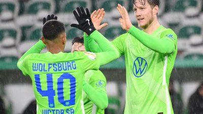 Spielfreudige Wolfsburger souverän: Sieg gegen Sandhausen